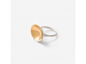 Prsten zlaté zrcadlo *010 (Ag 925/1000)